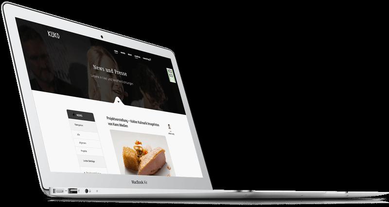 Küko Webseite Mockup