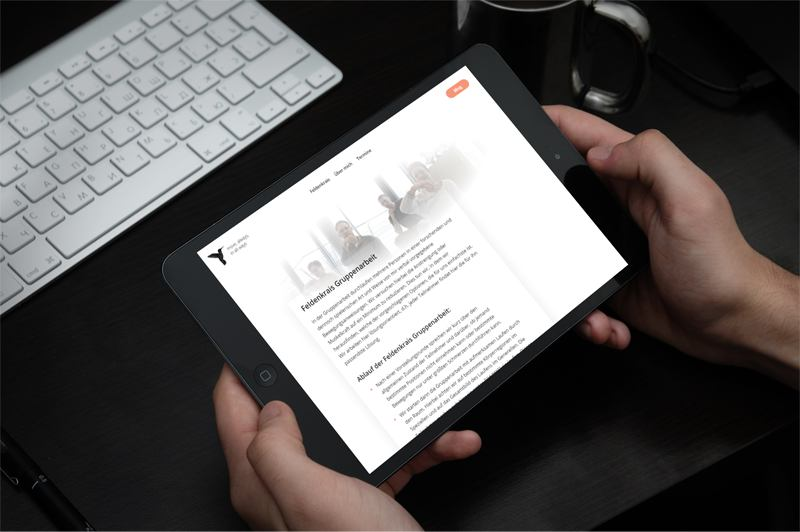 Christian Rabhansl WordPress Theme in IPad